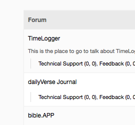 The forums are back